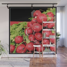 Harvest Red Radishes Wall Mural