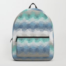 "Abstract pattern "" Blue crush ""  . Backpack"
