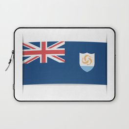 Flag of Anguilla. The slit in the paper with shadows. Laptop Sleeve