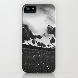 Dyrfjoll in Moody Black and White iPhone Case