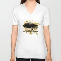 "fleetwood mac V-neck T-shirts featuring 1950 Cadillac Fleetwood ""Caddy"" by SpecialTees"