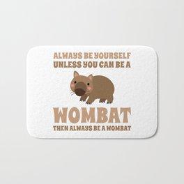 Wombat Funny Gift Idea Bath Mat
