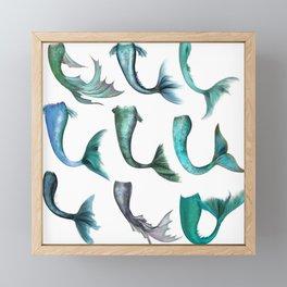 Mermaid Tails Framed Mini Art Print