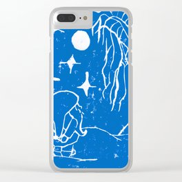 The Winter Elf - Snow Blue Clear iPhone Case
