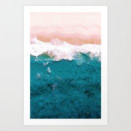 Sea, Pastel Beach Art Print
