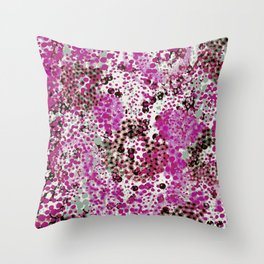 sparkling dots in raspberry Throw Pillow