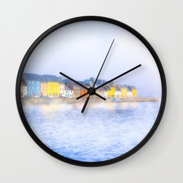 Misty Morning On The Shores Of Galway Ireland Wall Clock