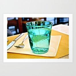 Glass Glass Art Print