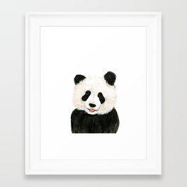 naughty little panda Framed Art Print