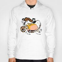 hobbes Hoodies featuring Calvin and Hobbes caricature design by Eric Goodwin