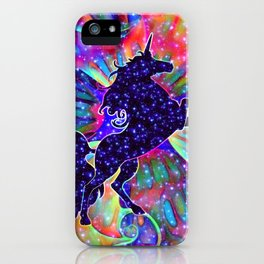 UNICORN OF THE UNIVERSE multicolored iPhone Case