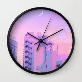 Shibuya Morning Crescent Wall Clock