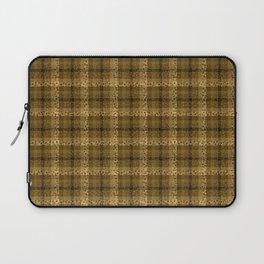 Bubbly Brown Tartan Pattern Laptop Sleeve