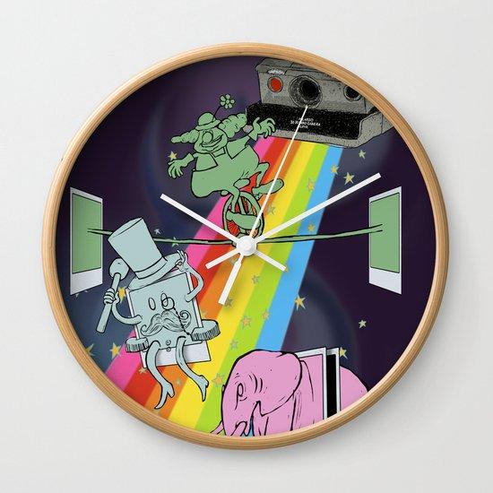 POLAROID SX70 CAMERA CIRCUS Wall Clock