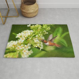 The Hummer and the Butterfly Bush Rug