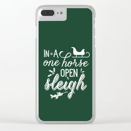 One Horse Open Sleigh Clear iPhone Case