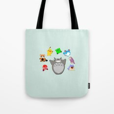 Video game Anime Character Rainbow Tote Bag