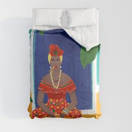Femme au cigare Comforters