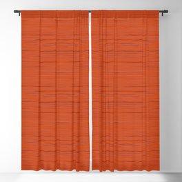 Meteor Stripes - Rust Orange Blackout Curtain