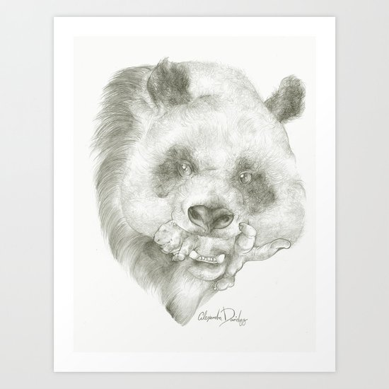 Giant Panda Mother Art Print