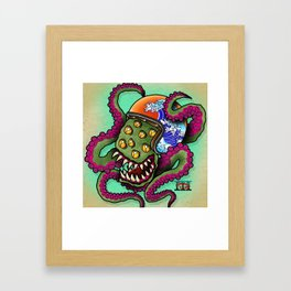 Monsta Rider Framed Art Print