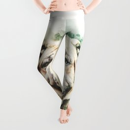 English Bulldog Digital Watercolor Painting Leggings