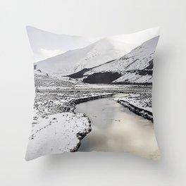 Snow Loch Throw Pillow