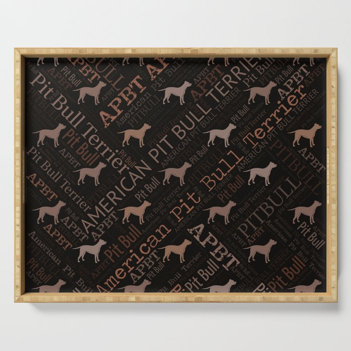 American Pit Bull Terrier Serving Tray