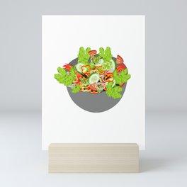salad has the taste of sadness salad salad bowl Mini Art Print
