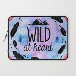Wild at Heart - Boho Watercolor Feathers Laptop Sleeve