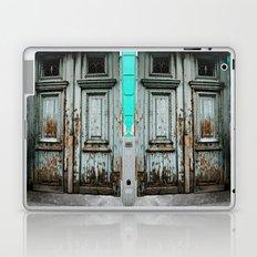 Turquoise Door Laptop & iPad Skin
