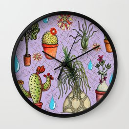 Botanical Sketches of Some Favorites  Wall Clock