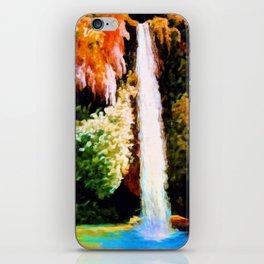 Autumn Forest Waterfall Landscape Art iPhone Skin