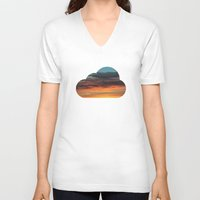 clouds V-neck T-shirts featuring CLOUDS by Dr. Lukas Brezak