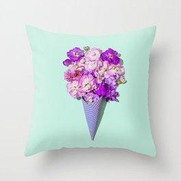 Flower Flurry II Throw Pillow