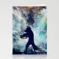 rocket raccoon Stationery Cards featuring Rocket Raccoon by Luca Leona