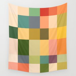Vintage Checkered Pattern Wall Tapestry