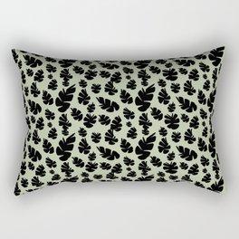 Green Pinecone Floral Rectangular Pillow