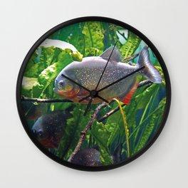 Piranhas #2 Wall Clock