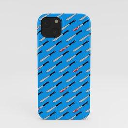 camp killer on blue iPhone Case