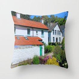 Caldey Island Village.Wales. Throw Pillow