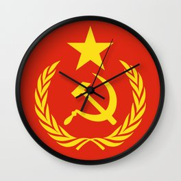 Russian Communist Flag Hammer & Sickle Wall Clock