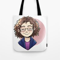 chelsea Tote Bags featuring Chelsea by Abbi Laura