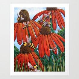 Bee Happy by DeeDee Draz Art Print