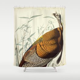 Great American Cock (Wild Turkey) Shower Curtain