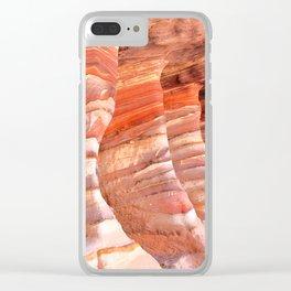 Colorful sandstone in Petra, Jordan (Picture 5) Clear iPhone Case