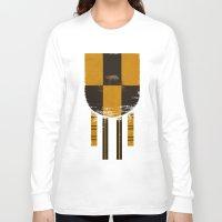 hufflepuff Long Sleeve T-shirts featuring hufflepuff crest by nisimalotse