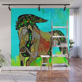 Horse Stained Glass Wall Mural