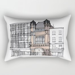 Bishopsgate Institute London by Charles Townsend Rectangular Pillow