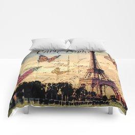 Vintage Paris-Carte Postale Comforters